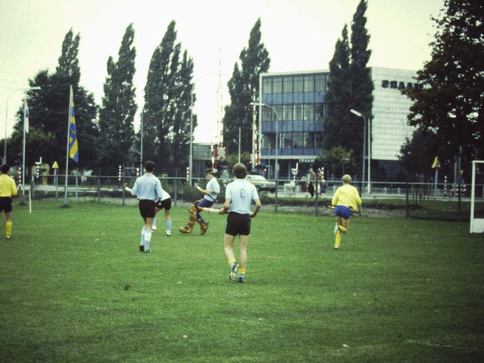 Playing field hockey - (c) Bard 1982
